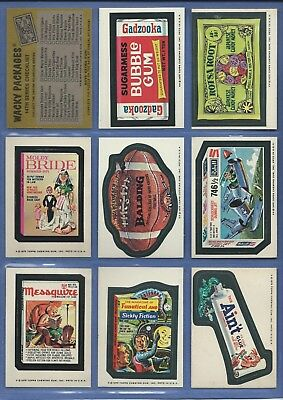 Wacky Packages Series 14 Complete Set 30 Of 30 Exmt
