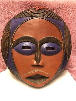 Face Mask Ghana African Hand Carved Wood Moon Mask Pier 1 Imports