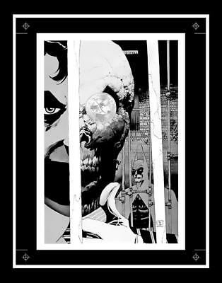 Tim Sale Detective Comics #778 Rare Production Art Cover Pin-Up Monotone