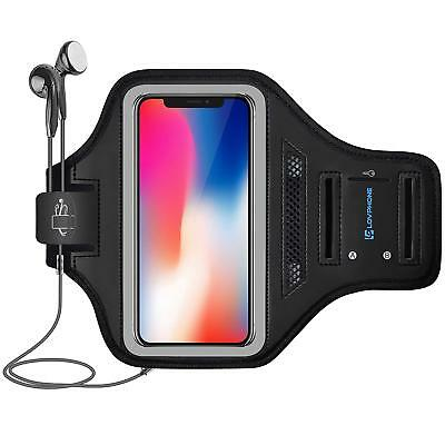 Newest Armband for iPhone X & XS with Key Holder & Card Slot for Running - Gray