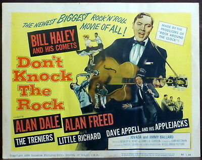 Bill Haley and the Comets Original 1957 Lobby Title Card Alan Freed 50s Rock