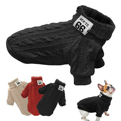 Hand Knit Dog Sweaters Clothing Chihuahua Clothes Soft for Small Dog Pet Puppy U