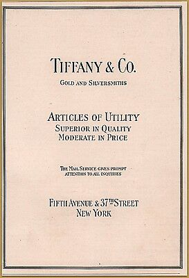 1918 Tiffany Co Print Ad  Articles of Utility