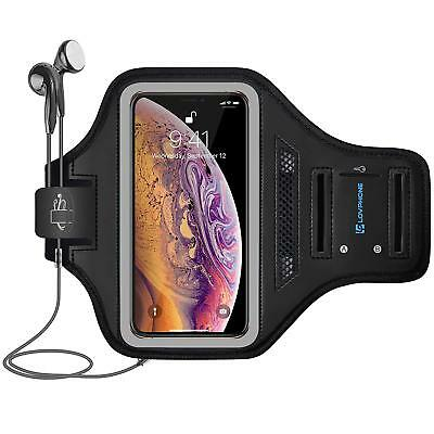 New Waterproof Sport Outdoor Gym Running Armband for iPhone XS Max - Gray
