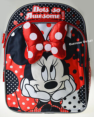 6128247575 Red Girls Minnie Mouse Backpack 14