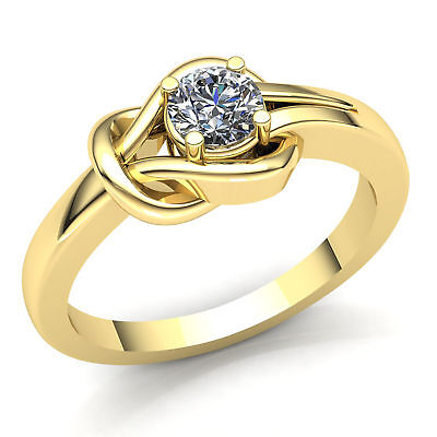 0.33ct Round Cut Diamond Ladies Forever One Solitaire Engagement Ring 18K Gold