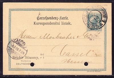 Austria 1900 Letter Card Deutchbrod to Cassel