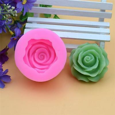 Flower Rose Silicone Mold For Resin Polymer Clay Fondant Cake Chocolate DB