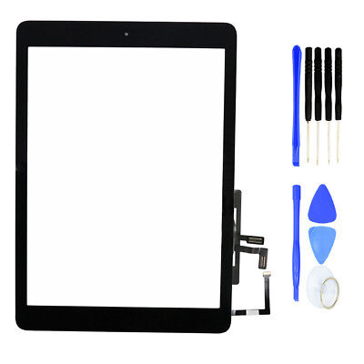 For iPad Air A1474 Touch Screen Digitizer Black Replacement with Home Button Kit