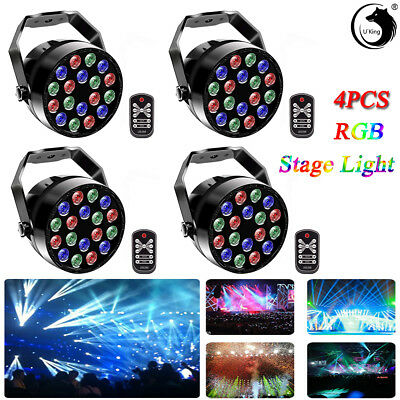 4PCS 36W U`King 18LEDs RGB Par Stage Light DMX512 Remote KTV Club Party Disco DJ