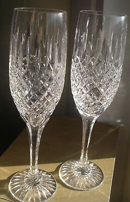 Royal Brierley vintage cut crystal champagne glass flutes party toast wedding