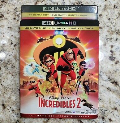 THE INCREDIBLES 2 (4K Ultra HD Blu-ray Disc, No Digital) Like New