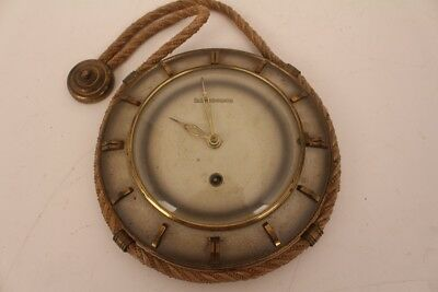 Antiques Schwebegang Wall Clock M Decorative Arts Cord Metal Sheet Vintage The 60er Watches Mechanical