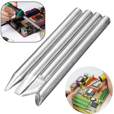4pcs 60W Soldering Iron Tip Head Replaceable 5.5mm Shank Kit For Solder Irons