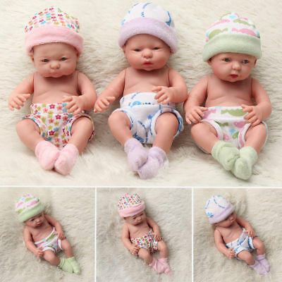 Newborn Baby Doll Toy Soft Vinyl Silicone Lifelike Newborn Kid Toddler Xmas Gift