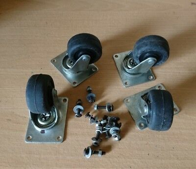 Set of 4 50mm D . Caster Wheels with fixings