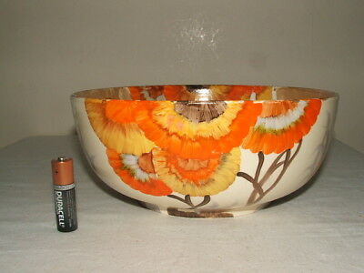 Clarice Cliff Art Deco Bizarre Rhodanthe  Fruit Bowl As Found