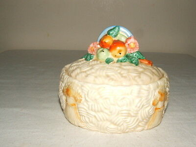 Clarice Cliff Art Deco Celtic Harvest Lidded Jam-Pot Truly Stunning