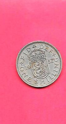 Great Britain Gb Uk Km905 1957 Vf-Very Fine-Nice Old Vintage Shilling Coin