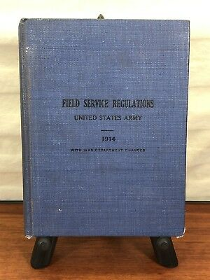 Vintage Military 1917 WWI Collectible U.S. Army Field Service Regulations Book