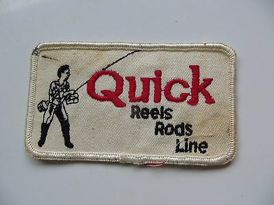 original Quick Reels,Rods,Line,highly collectible logo fishing flyrods patch
