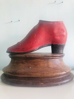 victorian Metal / Spelter Counter Top Shoe For Shaping Fabrics For Shoe Maker