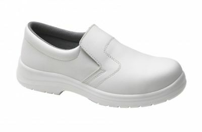 Size UK 12 EU 47 Supertouch Food X Slip On Lightweight White Safety Shoes New