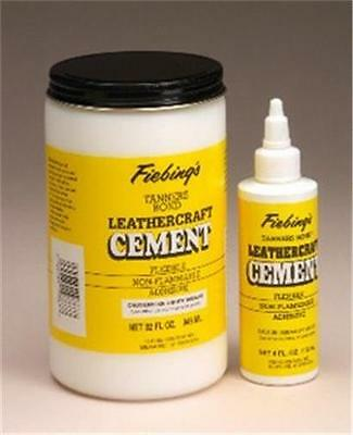 FIEBINGS LEATHER ADHESIVE/ GLUE 4oz bottle STRONG BOND.