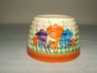 Clarice Cliff Art Deco Bizarre  Autumn Crocus Jam-Pot Base Fabulous