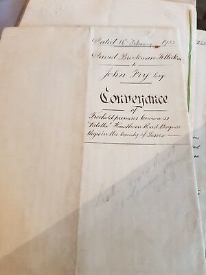 Hand written Conveyance dated 16th February 1935 for land in West Sussex