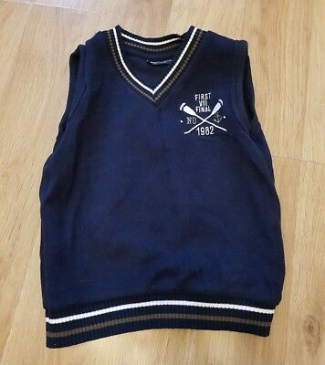 NEXT baby boys 18-24 months jumper blue tank top sweater vest