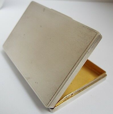 LOVELY FRENCH ANTIQUE c1910 SOLID SILVER & GILT-LINED CALLING BUSINESS CARD CASE