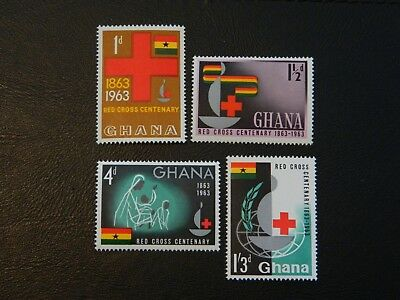 Ghana Stamps SG 307/310 set 4 stamps MNH issued 1963 Centenary of the Red Cross.
