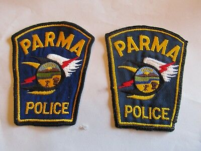 Ohio Parma Police Patch Set Left Cheese Cloth Diff Blues