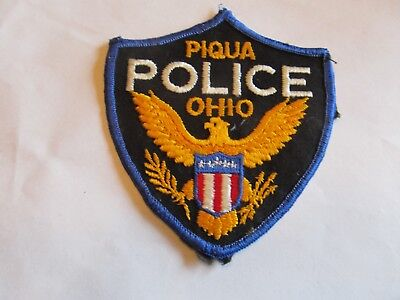 Ohio Piqua Police Patch Old Cheese Cloth