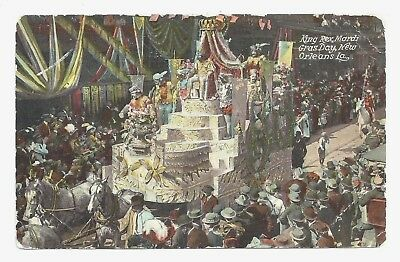 New Orleans LA - King Rex, Mardi Gras Day ca.1910 Louisiana Postcard