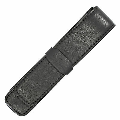 Parker Black Leather Single Pen Pouch Case Holds 1 Fountain Rollerball Ballpoint