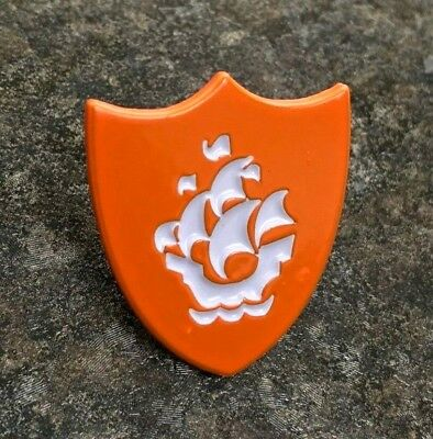 Blue Peter Orange Enamel Pin Badge | Novelty Childrens Bbc School Kids Tv | Gift