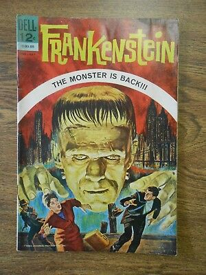 Dell Frankenstein #1 First Issue 1963 Comic Classics Universal Monsters VG