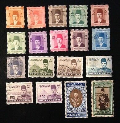 Egypt - Stamps - set of King Farouk Civil