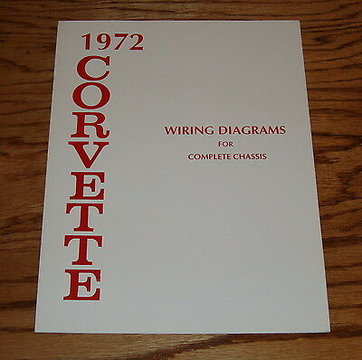 1972 Chevrolet Corvette Wiring Diagram Manual for Complete Chassis 72 Chevy