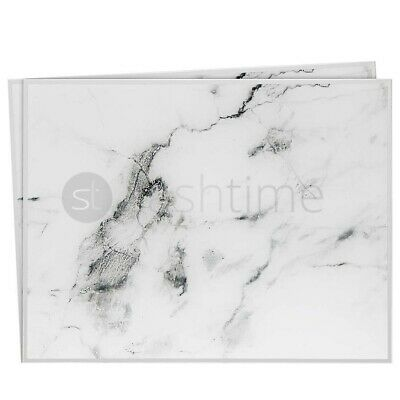 ❤️ Set Of 2 Square Glass Grey Marble Effect Drinks Mats Placemats Gift Elegant