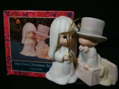 Precious Moments Ornaments-Our 1'st Christmas Together-1992