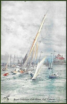 Royal Corinthian Yacht Club, Port Victoria.The Isle of Grain & The Nore c1910.