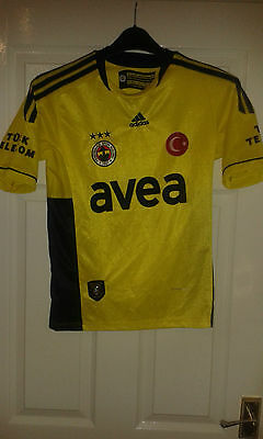 Boys Football Shirt - Fenerbahce - Away 2010-2011 - Adidas - Turkey - Size 176