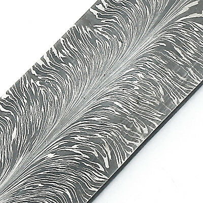 New Damascus Steel Feather Pattern Billet for Knife Making By KNIVES EXPORTER