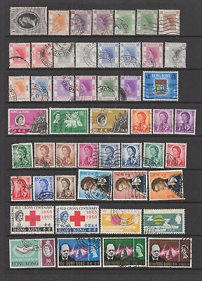 Hong Kong 1953 - 1973 fine used collection, 87 stamps