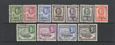 Somaliland 1951 Set fine used  ( 5c is MH ) , SG 125- 135