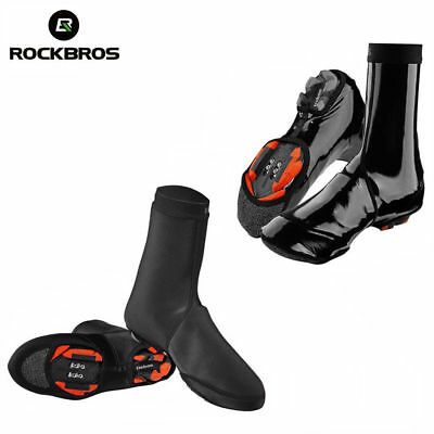 RockBros Cycling Shoe Cover Warm Windproof Waterproof Protector Overshoes Black