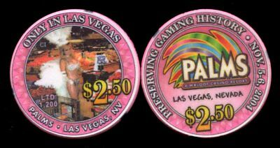 $2.50 Las Vegas Palms ONLY IN LAS VEGAS Casino Chip - Uncirculated